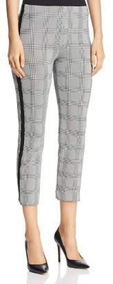 Three Dots Glen Plaid Slim Capri Pants