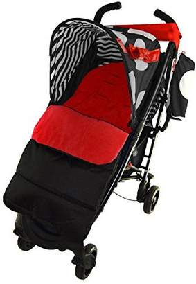 Koochi Footmuff/Cosy Toes Compatible with Pushmatic Pushchair Fire Red