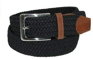 Deal Fashionista 1-3/8 Unisex Elastic Braided Stretch BELT BN-3XL