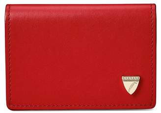 Aspinal of London Accordion Zipped Credit Card Holder In Smooth Scarlet