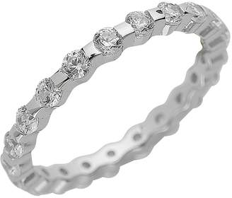 Sterling Forever Sterling Silver CZ Wedding Band Ring