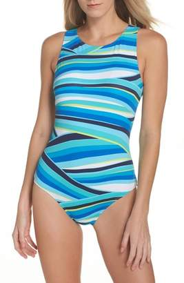 Tommy Bahama Winding Wave One-Piece Swimsuit