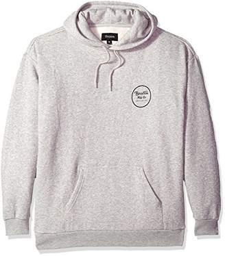 Brixton Men's Wheeler Relaxed Standard Fit Hood Fleece Sweatshirt