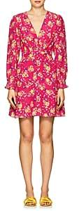 Saloni Women's Eve Floral Silk Minidress - Pink
