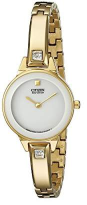"""Citizen Women's EX1322-59A """"Silhouette"""" Stainless Steel Swarovski Crystal-Accented Eco-Drive Watch"""