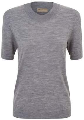 Burberry Merino Wool Short Sleeve Sweater