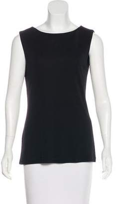 Alberta Ferretti Sleeveless Scoop Neck Top