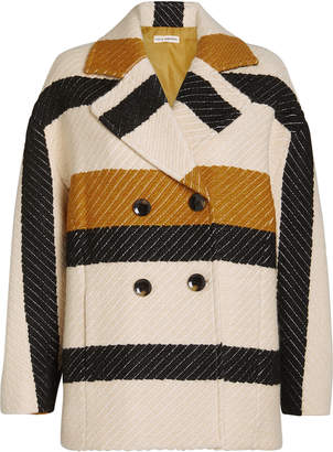 Ulla Johnson Emery Striped Double Breasted Jacket