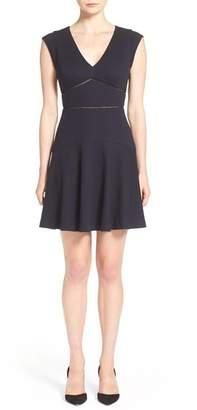 Rebecca Taylor 'Taylor' V-Neck Fit & Flare Dress