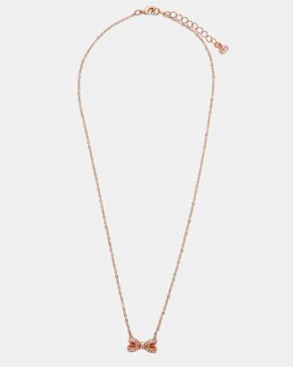 Ted Baker OLESSI Swarovski crystal bow necklace