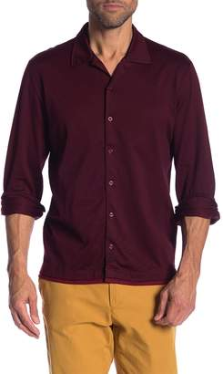 David Donahue Jacquard Knit Sport Shirt