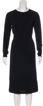 MM6 MAISON MARGIELA Overlay Long Sleeves Midi Dress