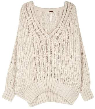 Free People Infinite Chunky-knit Cotton Jumper