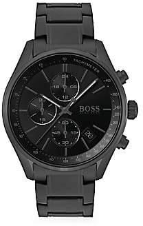 HUGO BOSS Men's Grand Prix Chronographic Ionic Plated Steel Watch