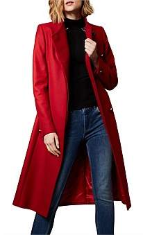 Karen Millen Tie Waist Tailored Coat