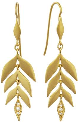 Cathy Waterman Falling Leaf Earrings