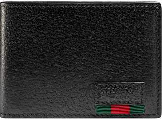 1c99e56b2363 Gucci Leather bi-fold wallet with Web