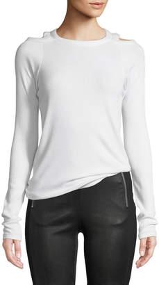 Rag & Bone Rosalind Crewneck Long-Sleeve Rib-Knit Sweater