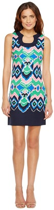 Christin Michaels - Yvonne Sleeveless Printed Dress Women's Dress $98 thestylecure.com