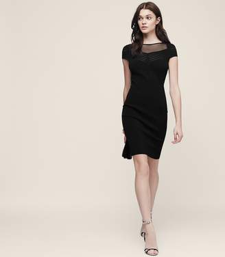 Reiss Lana Sheer-Panel Bodycon Dress