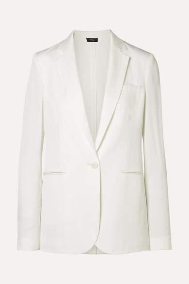 Grinson Silk-georgette Blazer - Ivory