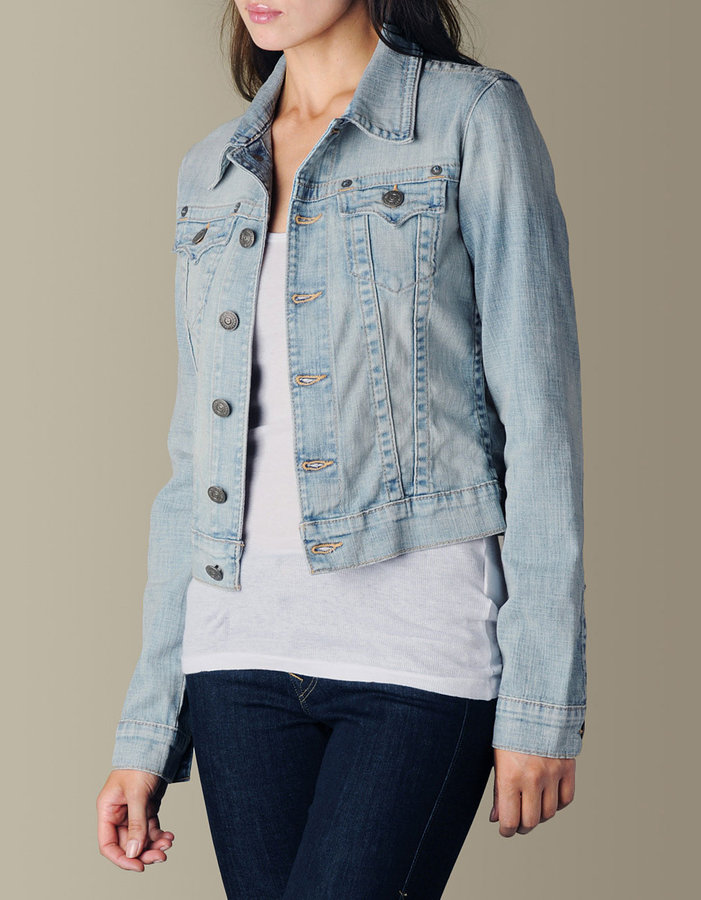 WOMENS EMILY ANTHEM VINTAGE DENIM JACKET - (Sierra Madre)