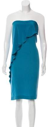 Bottega Veneta Silk Strapless Dress w/ Tags