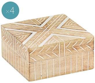 Amalfi by Rangoni Bohemi Deco Box (Set of 4)