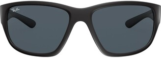 Ray-Ban matte square sunglasses