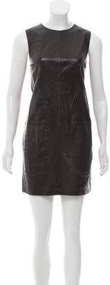 Vince Leather Mini Shift Dress