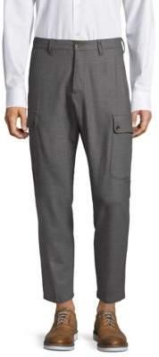 Eleventy Flannel Stretch Cargo Pants