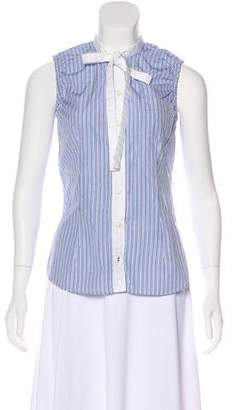 Dolce & Gabbana Sleeveless Striped Top