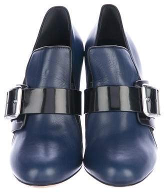 Chrissie Morris Leather Round-Toe Ankle Boots