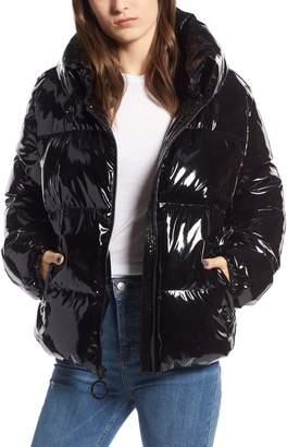 KENDALL + KYLIE Vinyl Puffer Jacket
