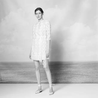 Sandro All-over lace dress with sheer effect