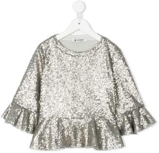 Dondup Kids sequinned top
