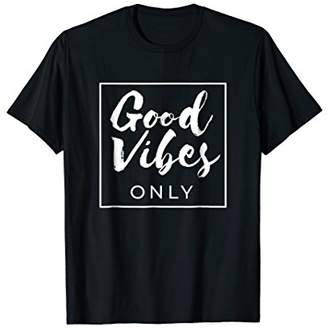 Good Vibes Only T-shirt Peace Love