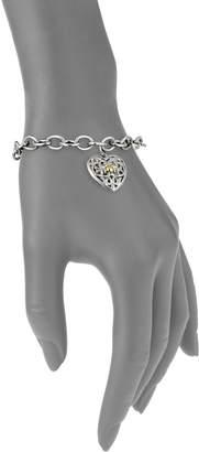 Charles Krypell Ivy Sterling Silver & 18K Yellow Gold Heart Charm Bracelet