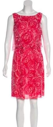 Giambattista Valli Floral Print Knee-Length Dress w/ Tags