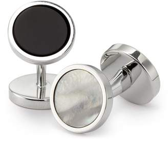 Charles Tyrwhitt Mother-Of-Pearl and Onyx Evening Cufflinks