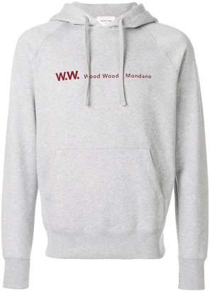 Wood Wood printed logo hoodie