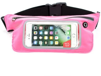 """Miami CarryOn Running Workout Fitness Belt Waist Pack, Sweat-Proof for Smartphones up to 5.5"""". Touch Screen Sensitive Access Window, All Waist Sizes"""