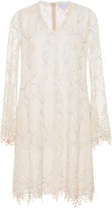 Luisa Beccaria Tulle Embroidered Mini Dress