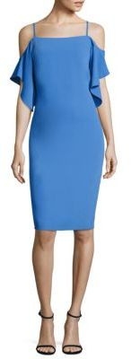 Laundry by Shelli Segal Cold Shoulder Sheath Dress $195 thestylecure.com