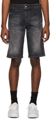 Diesel Black Denim Thoshort Shorts