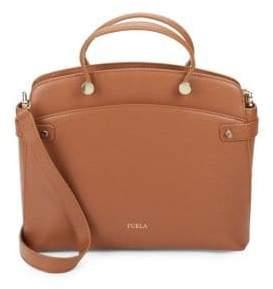Leather To Zip Shoulder Bag