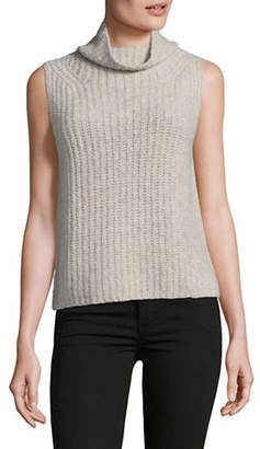 Vince Cashmere Blend Sleeveless Turtleneck