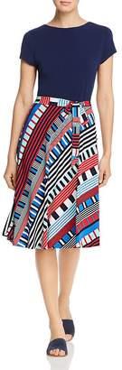 Leota Ilana Short-Sleeve Tie-Waist Dress