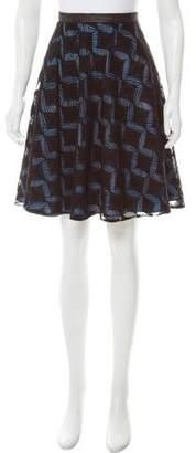 Rodarte Wool Jacquard Skirt