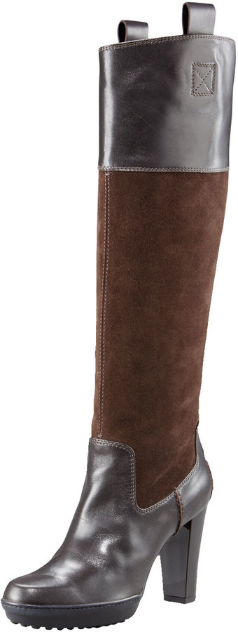 Tod's Gommini Suede & Leather Boot
